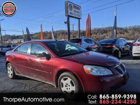 2008 Pontiac G6 1SV Sedan - cars & trucks - by dealer - vehicle... for sale in Knoxville, KY
