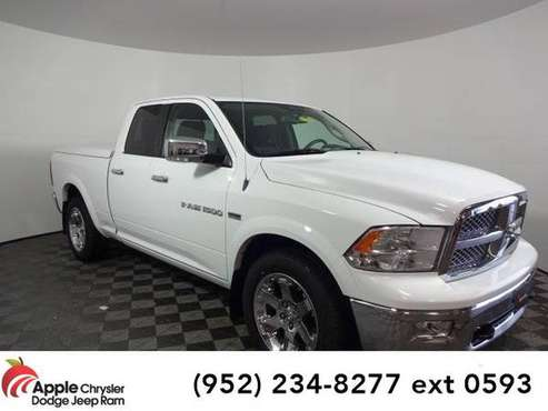 2012 Ram 1500 truck Laramie (Bright White Clearcoat) for sale in Shakopee, MN