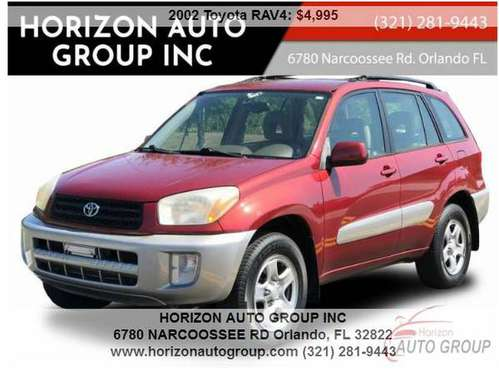 2002 Toyota RAV4 - 1 Owner -- NO Accidents- - NO Dealer Fees! for sale in Orlando, FL