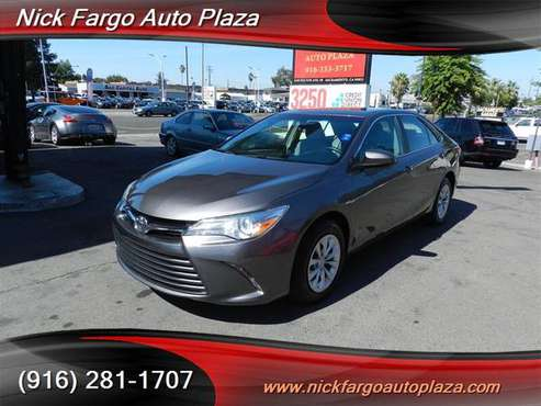 2017 TOYOTA CAMERY $4000 DOWN $190 PER MONTH(OAC)100%APPROVAL YOUR JOB for sale in Sacramento , CA