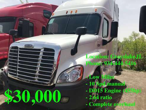 2012 Freightliner Cascadia for sale in Grayslake, IL