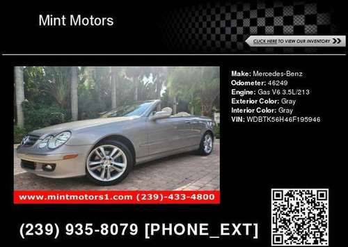2006 Mercedes-Benz CLK-Class 3.5l for sale in Fort Myers, FL
