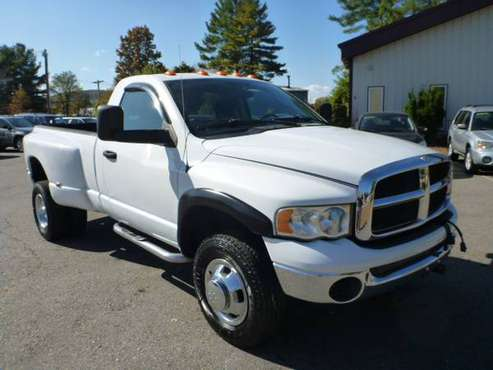 2004 DODGE RAM 3500 1 TON DUALLIE FISHER PLOW READY ONLY 53,000 MILES for sale in Milford, ME