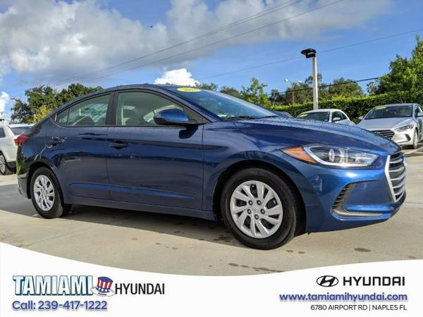 2018 Hyundai Elantra Lakeside Blue Great Deal! for sale in Naples, FL