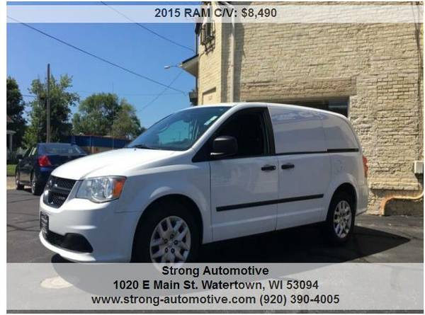 2015 RAM C/V Tradesman 4dr Cargo Mini Van for sale in Watertown, WI